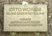 Gedenktafel Otto Worms
